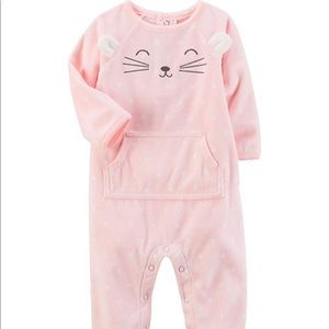 Carter's Pink Cat Sleeper